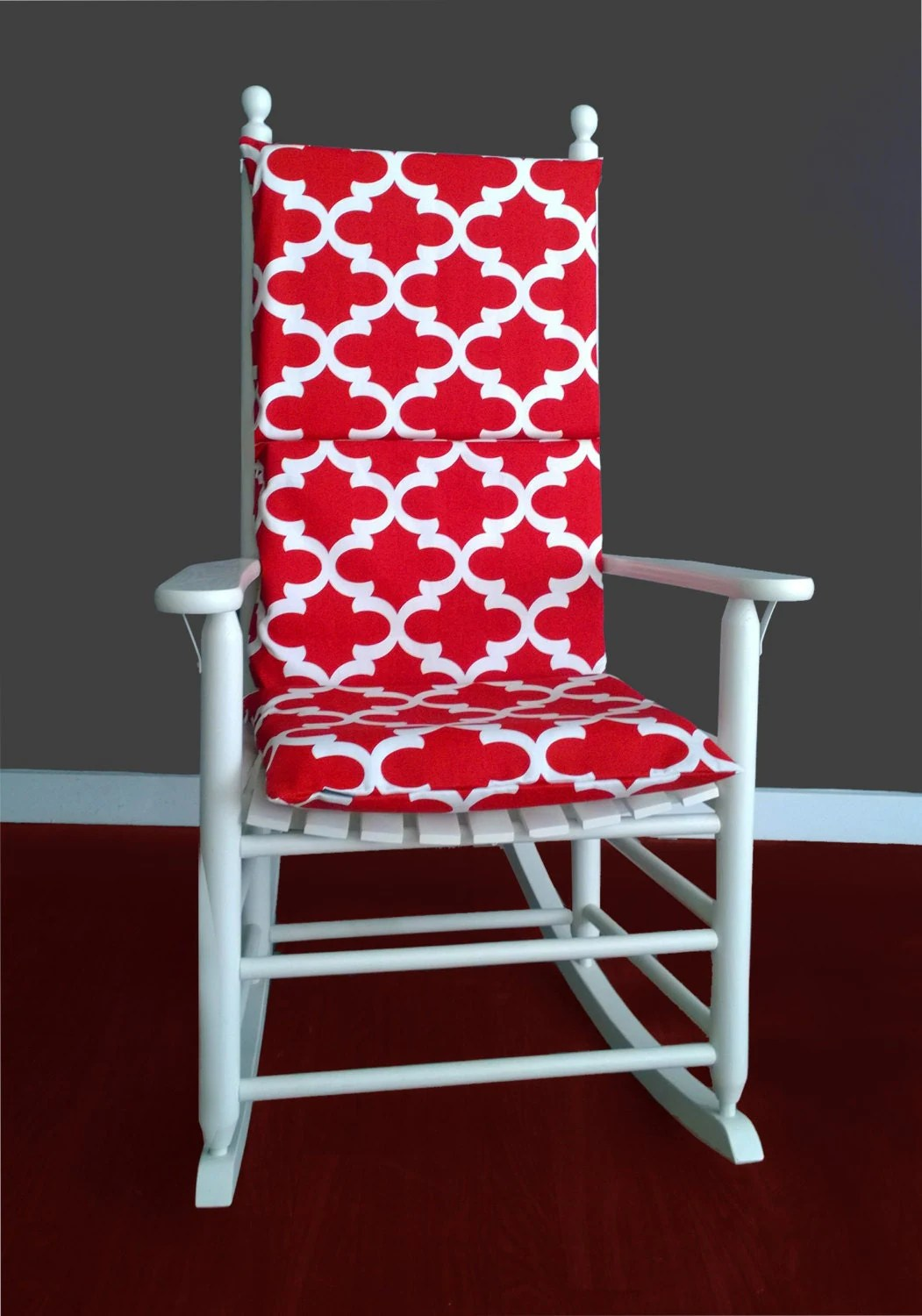 Red Rocking Chair Rocking Chair Cushion Cover Fynn Red