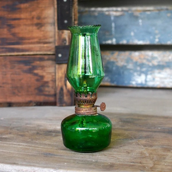 Jadeite Green Oil Lamp - Year of Clean Water