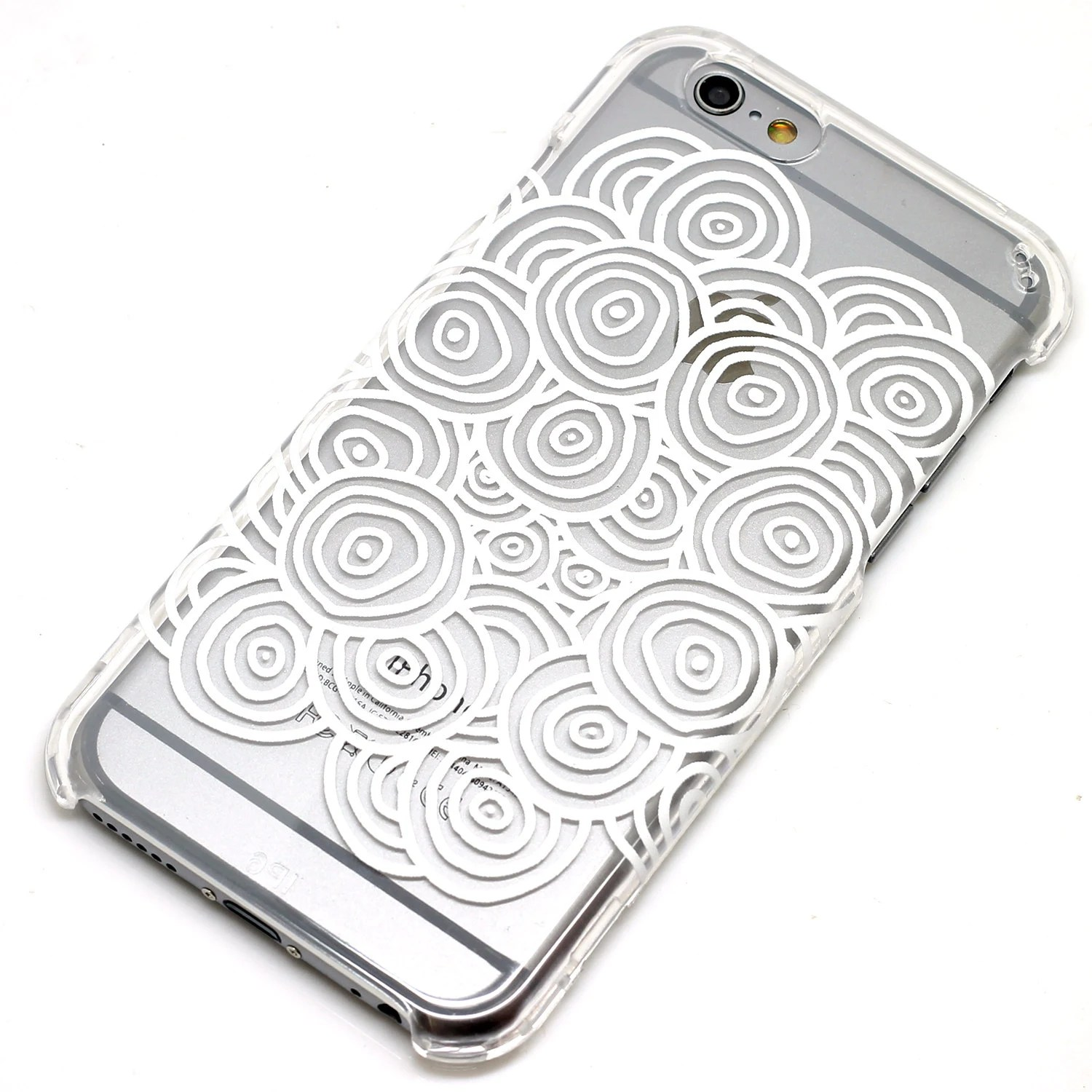 Dazed Circles White Henna Style On Clear Phone Case Iphone 6