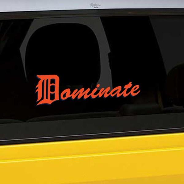 Detroit Tigers Window Decal Dominate Logo