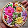 Embroidery Hoop Art Wall Hanging Decorative Wall Art