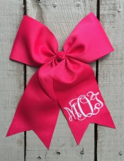 hair bow girl monogrammed girls