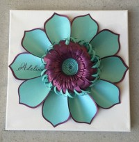 Paper Flower canvas wall art. Personalized custom by ...