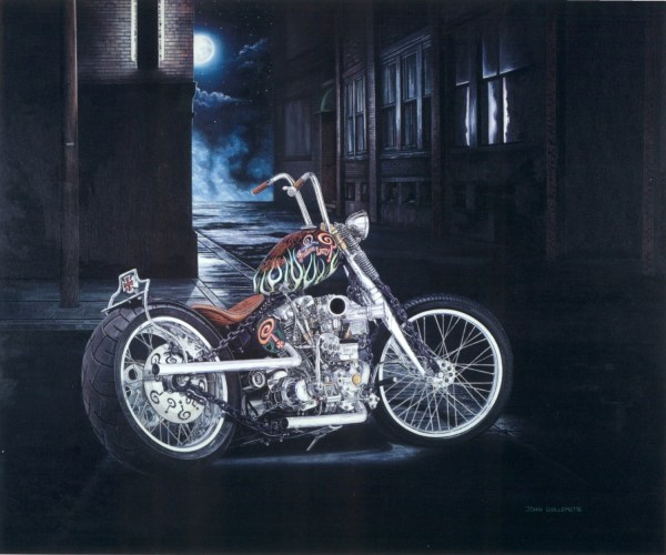 Motorcycle Art Limited Edition Giclee Print Withcoa Indian