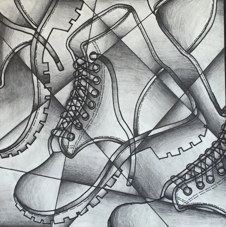 Custom Abstract Shading Pencil Drawing
