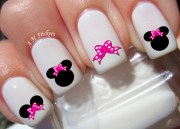 minnie mouse pink bow nail decals