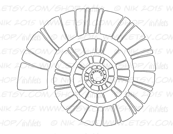 Items similar to Spiral Coloring Page Template Printable