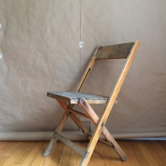 Folding Chair Hinges White Pool Lounge Chairs Americana Vintage 1940s Wooden Fold Up Beach Synder