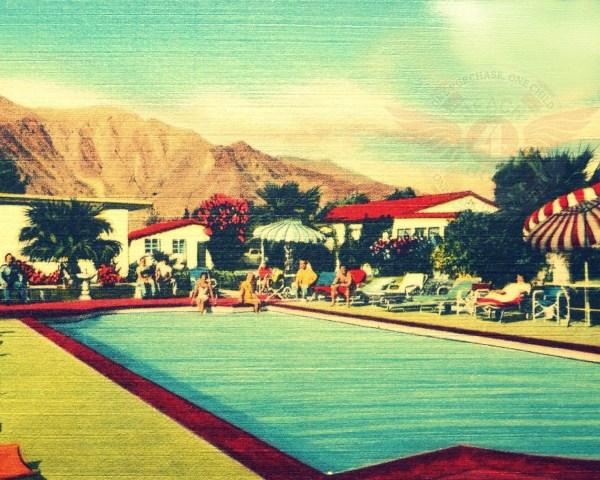 Mid Century Modern Art Hotel Print Palm Springs