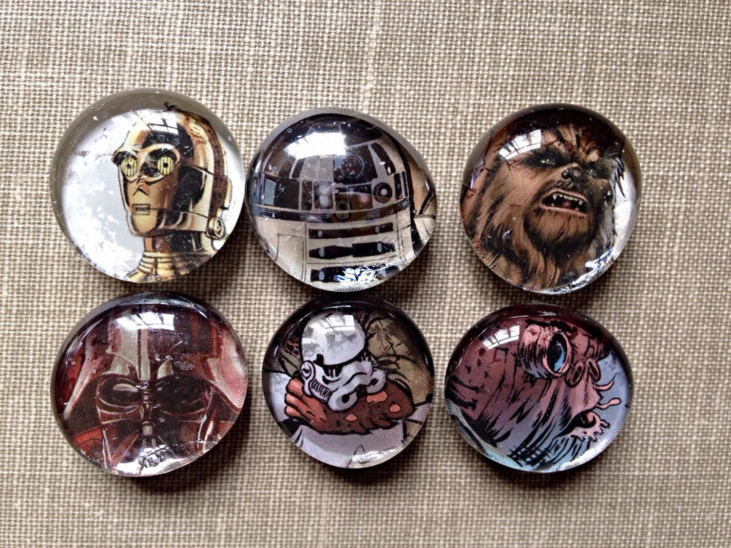 Star Wars Magnets Comic Magnets Glass Bubble Magnets Darth