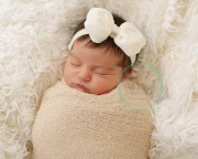 ivory baby bow clip hair bows