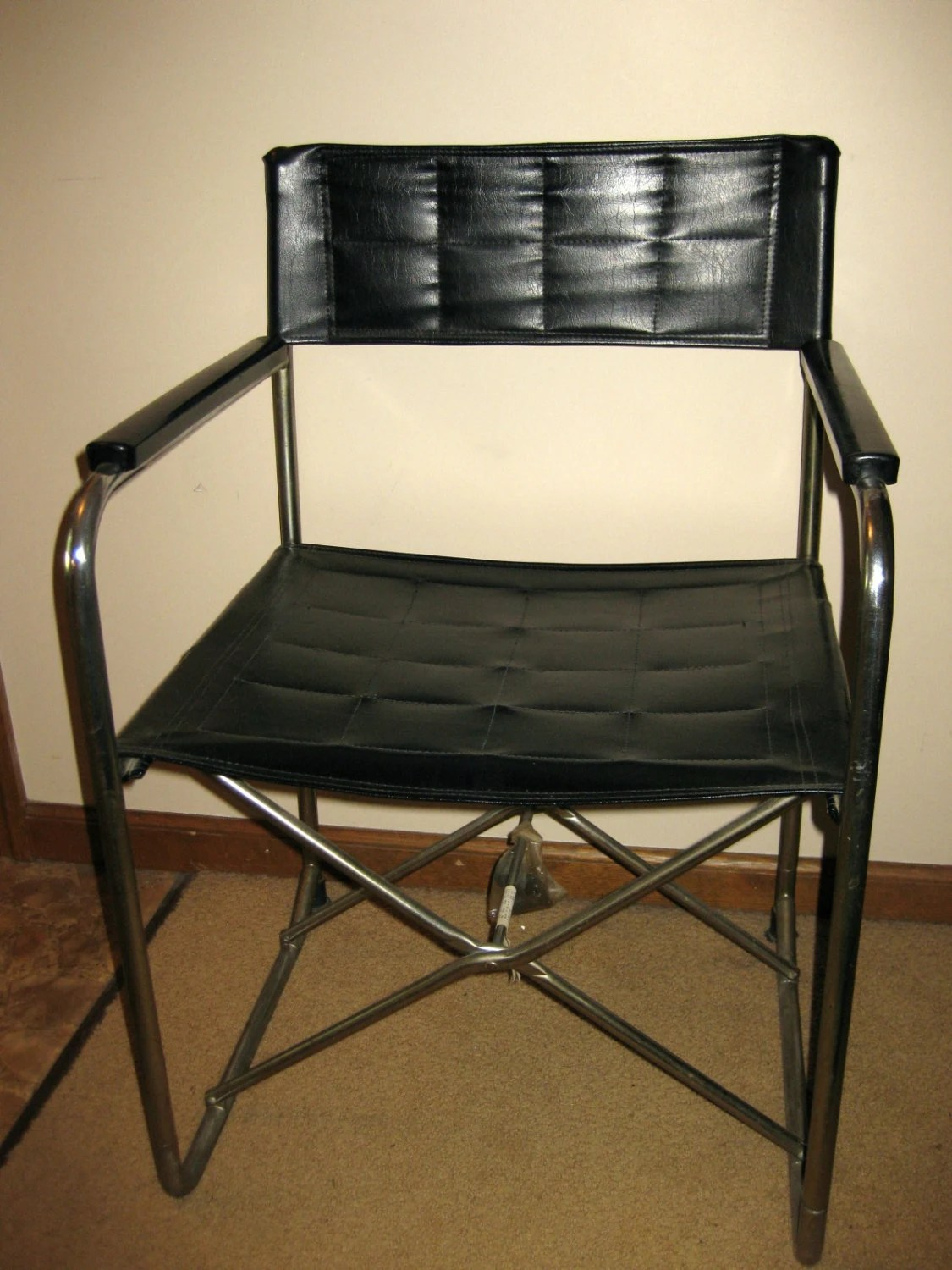 folding chair leather lazy boy recliner and a half vintage chrome utida x