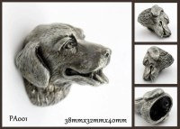 Pewter Dresser Knobs Cabinet Pull Handles Dog Animal ...