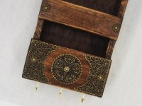 Decorative Rustic Mail Holder And Key Rack Wooden Wall Mail