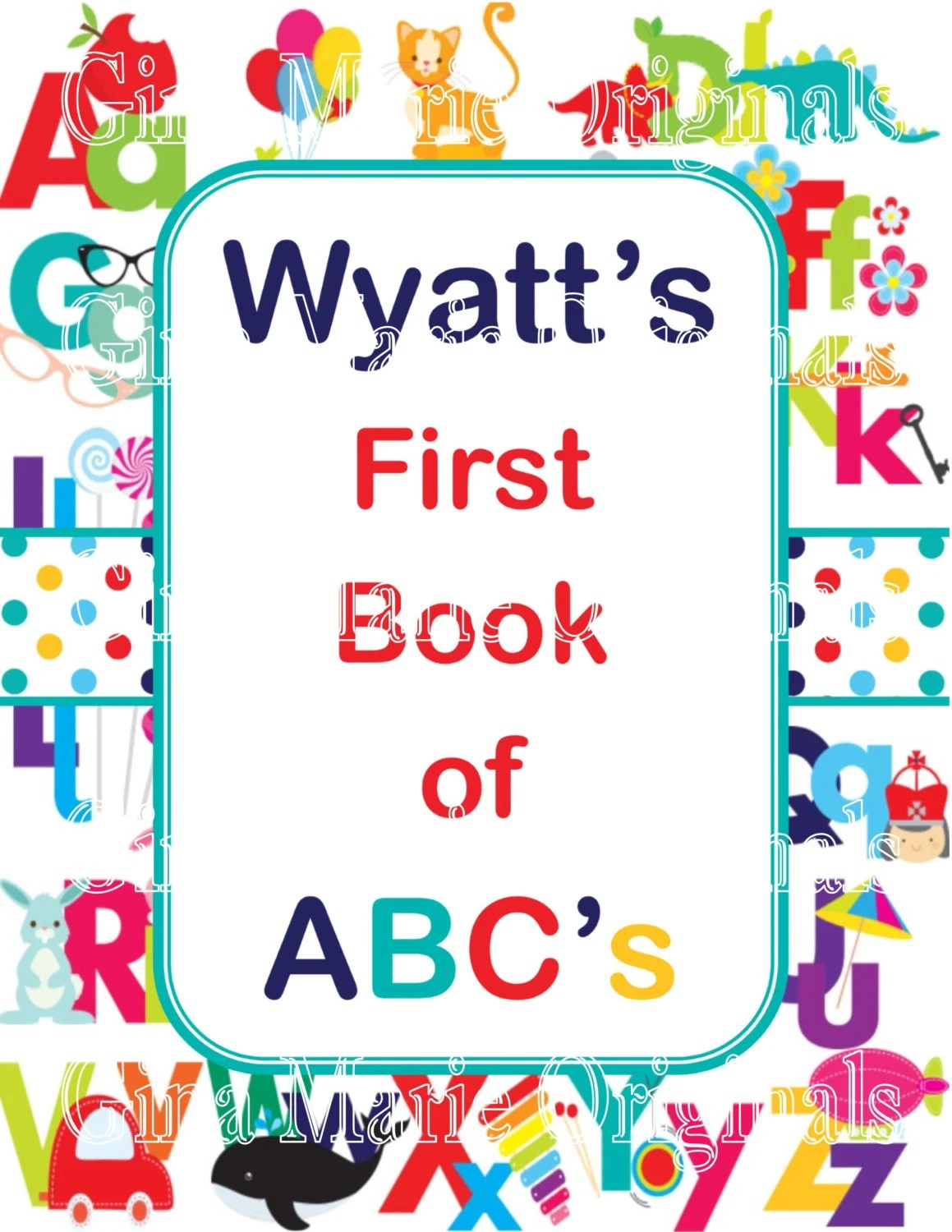 Personalized Printable Baby Shower Abc S Activity Book