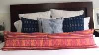 Extra long tribal lumbar pillow 4 foot bolster pillow