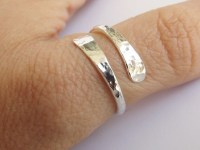 Bypass Thumb Ring Hammered Thumb Ring by FULLMOONJEWELLERY ...