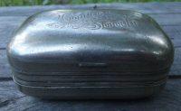 Vintage Metal Soap Dish Travel Soap Holder Metal Box Toilet