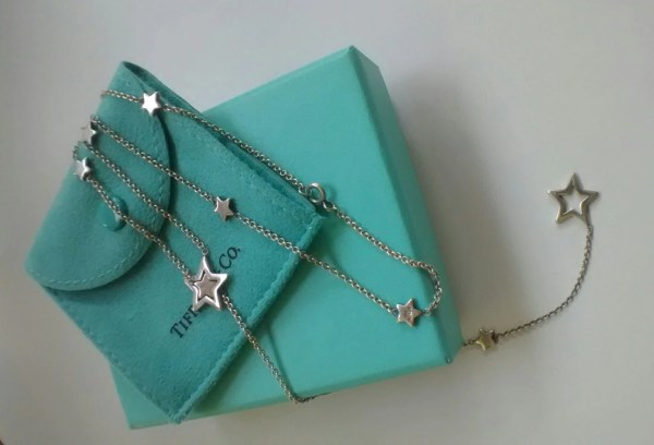 Authentic Tiffany & Star Lariat Necklace
