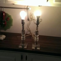Glass vanity lamps dressing table lamps vintage by ...