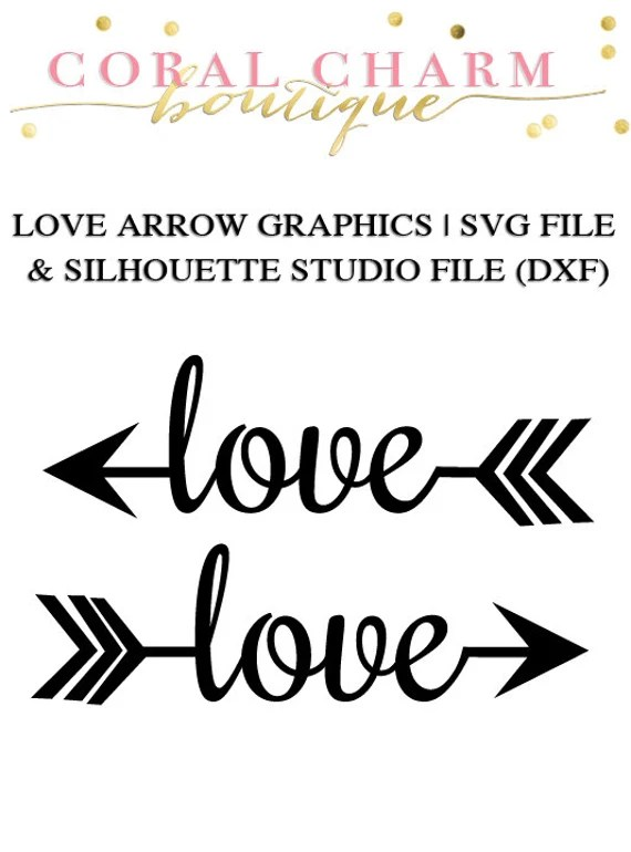 Download Love Arrow Files for Cutting Machines | SVG and Silhouette ...