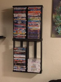 124 DVD BluRay Games Tower Stand Organizer Rack Shelf Holder