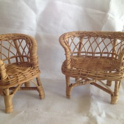 Old Wicker Chairs Uk Walmart Computer Desk 10 Off Sale Doll Sized Chair And Loveseat Vintage
