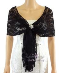 Bridal Lace Wrap Stole Black Lace Shawl Bridal Silk Lace
