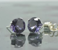 Alexandrite Stud Earrings Color Change by SouthernGemstones
