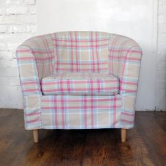 Old Ikea Chair Covers Wedding Hire North West Slip Cover For The Ektorp Tullsta Tub Sorbet Tartan