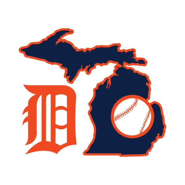 Detroit Tigers Michigan Baseball Window Decal