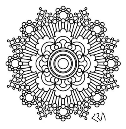Items similar to Mandala Adult Coloring Page #52 on Etsy