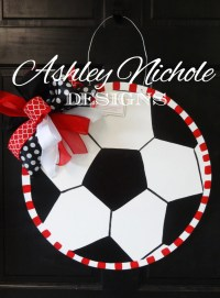 Soccer Ball Door Hanger Door Decoration Soccer Wreath