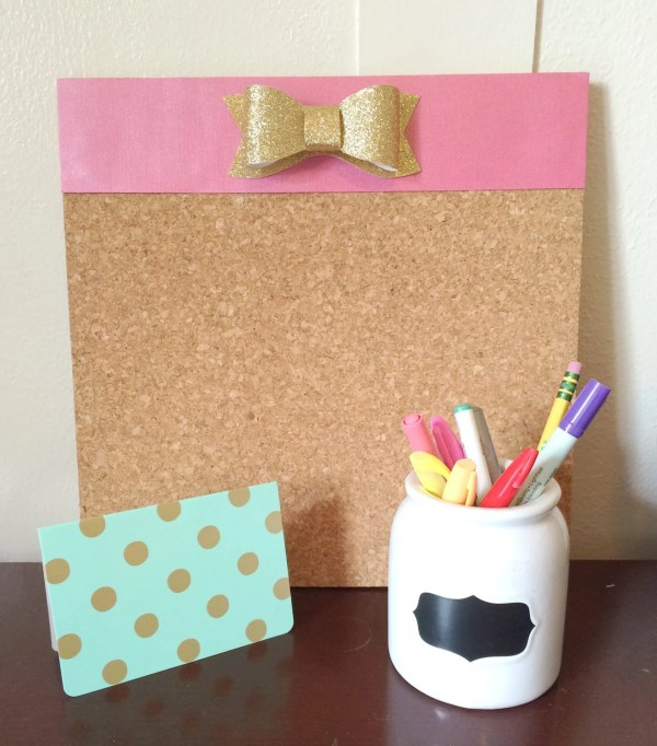 Bow Bulletin Board Home Office Sparkle by MadeInTheShadeShop