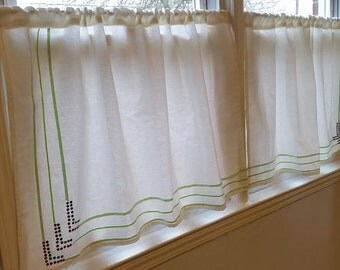 White Lace Curtain Etsy