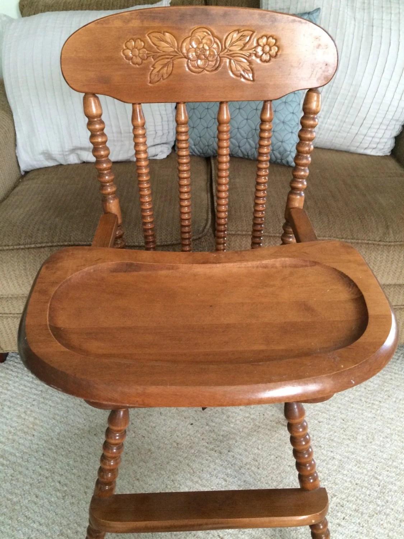 antique high chair aquatec shower vintage wooden jenny lind by thekristkorner