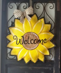 Summer and Fall Sunflower Burlap Door Hanger by ...