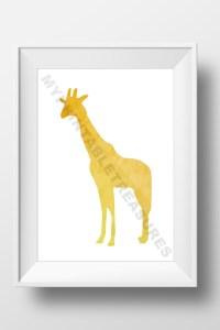 Safari Nursery Art Giraffe Wall Decor by MyPrintableTreasures