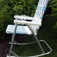 Aluminum Webbed Lawn Chairs Swing Chair Outside Vintage Rocking Folding Patio