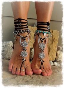 Goth Barefoot Sandals