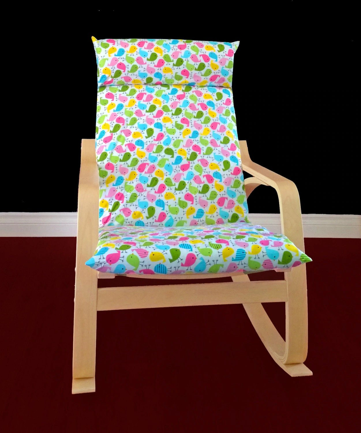 ikea poang chair cover upholstered side chairs dining etsy  nazarm