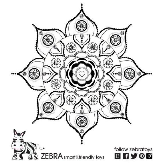 SHANTI GYPSY mandala-printable art-Hippi digital by zebratoys