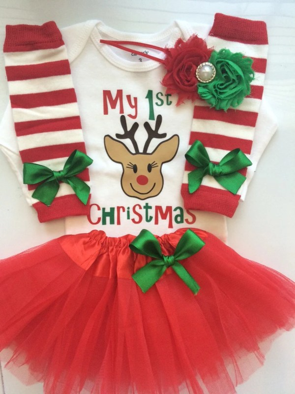 edd5b08f3 Baby Girl First Christmas Outfit - Year of Clean Water