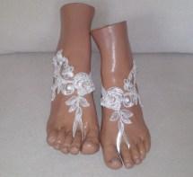Etsy Barefoot Sandals Wedding