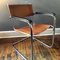 Mid century arm chair modern side chair sling back by ...