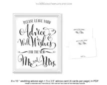 Popular items for wedding advice cards on Etsy