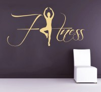 Fitness Wall Decals Sportwoman Sport Girl Gym by ...