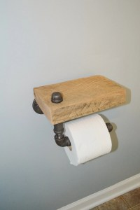 Reclaimed Barn Wood Toilet Paper Holder