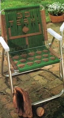 Vintage Macrame Cording Lawn Chair Folding Pattern 1970s