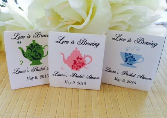 40 Wedding Tea Bag Favors bridal shower tea party by FavorUniverse